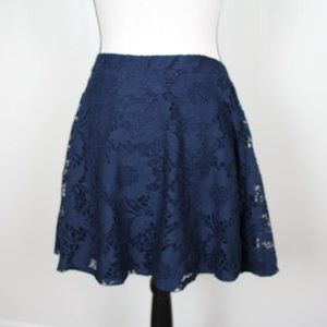 311  Aeropostale Navy Lace Lined Skirt